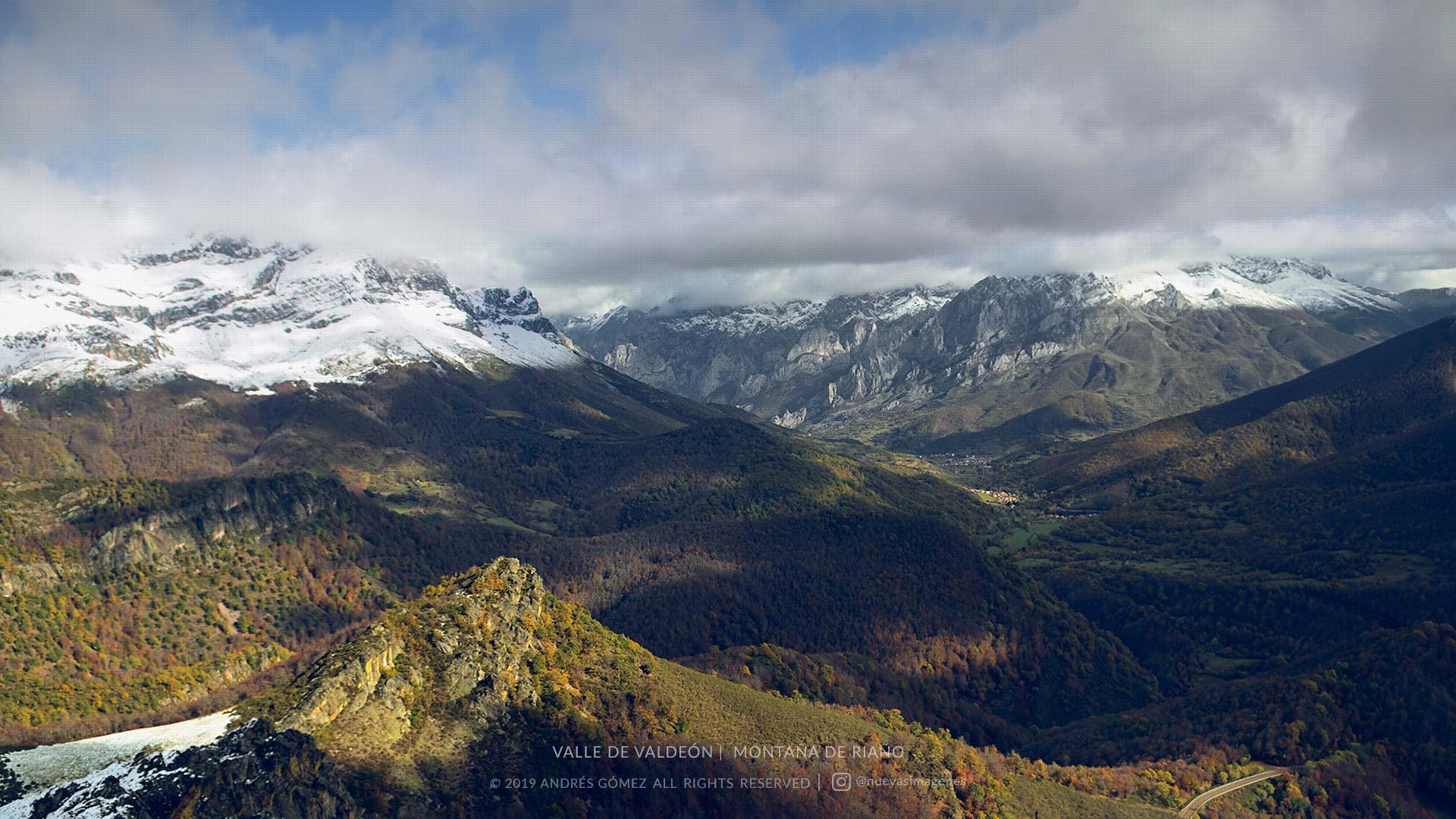 Valle de Valdeón desde el Pico Camborisco