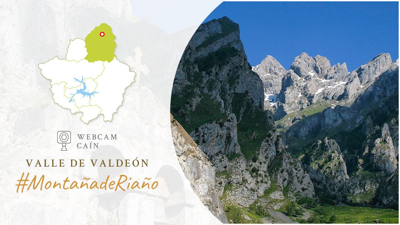 WebCam en la localidad de Caín. Valle de Valdeón en Picos de Europa