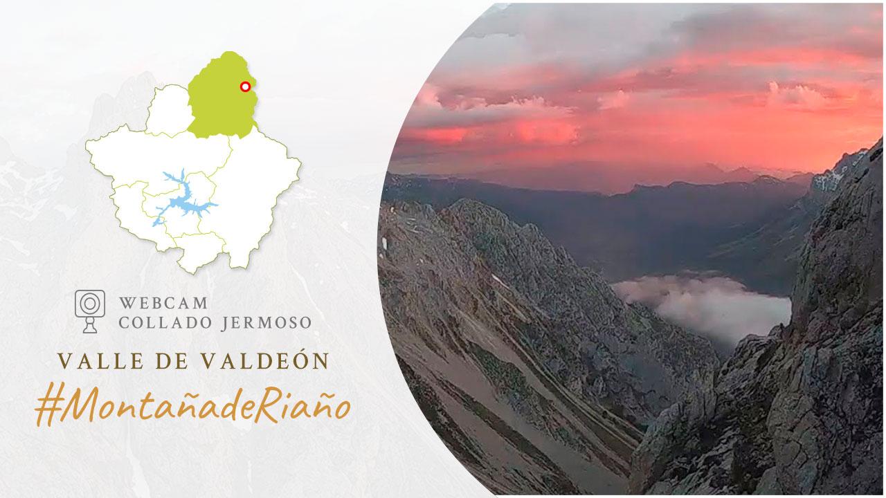 WebCam en Collado Jermoso (Picos de Europa) con vistas sobre el Valle de Valdeón