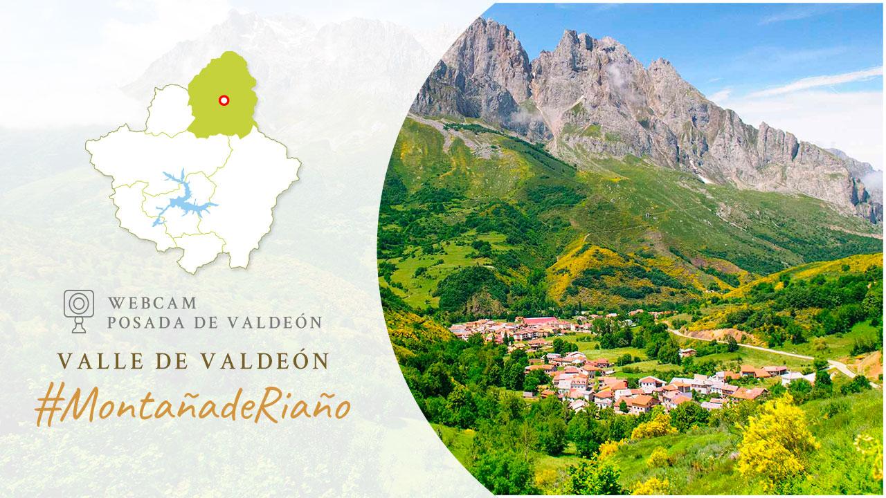 WebCam en el Valle de Valdeón sobre la localidad de Posada de Valdeón